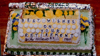 Secretary Retirement Cake with Typewriter
