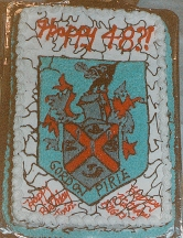 Family Crest on 88th Birthday Cake
